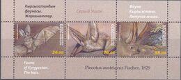 2020. Kyrgyzstan, The Bats Of Kyrgyzstan, S/s Perforated, Mint/** - Kirgisistan