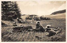 Echt Foto AK 1938 Die Wehrmacht Schweres Maschinengewehr In Feuerstellung - Guerra 1939-45