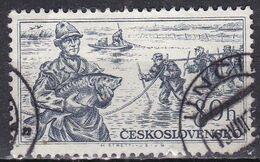 Cecoslovacchia, 1956 - 80h Fishermen - Nr.768 Usato° - Czechoslovakia