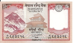 NEPAL 5 RUPEES 2017 UNC P 76 - Nepal