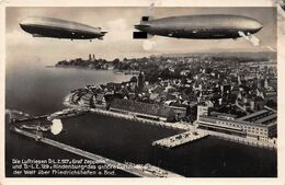 Echt Foto AK 1938 Friedrichshafen A. Bodensee Der Neue Riesen Zeppelin L.Z. 129 - Friedrichshafen