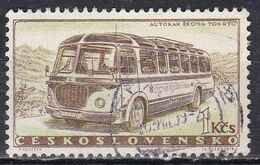 Cecoslovacchia, 1958 - 1k Autocar Skoda - Nr.894 Usato° - Czechoslovakia