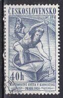 Cecoslovacchia, 1958 - 40h Canoeing - Nr.840 Usato° - Czechoslovakia