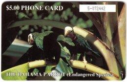 BAHAMAS A-091 Chip Batelco - Animal, Bird, Parrot - Used - Bahamas