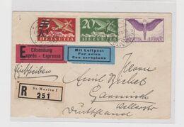SWITZERLAND ST. MORITZ  1935 Registered Priority Airmail Cover - Svizzera
