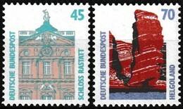Série De 2 T.-P. Gommés Neufs**  Curiosités Château De Rastatt Héligoland Les Falaises - N° 1300-1301 (Yvert) - RFA 1990 - Nuevos