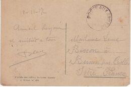 1917 Bureau Frontière K MILAN ITALIE Cachet Poste Aux Armées Lettre Gratté Et Sans Bloc-dateur Cf Description Strowski - 1. Weltkrieg 1914-1918