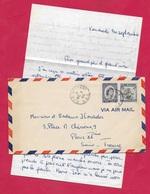 1955 Lettre GRENADE GRENADA Destination France Avec Son Courrier Où Il Est Question D'un Cyclone... - Grenade (...-1974)