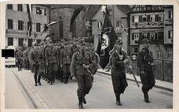 Echt Foto AK 2. WK WW2 Ca. 1935-1944 Schwäbisch Hall Arbeitsfront Vor Ritterbrauerei Etc. - Schwaebisch Hall
