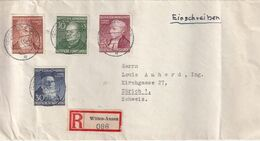 ALLEMAGNE 1953 LETTRE RECOMMANDEE DE WITTEN-ANNEN  AVEC CACHET ARRIVEE ZURICH - Cartas