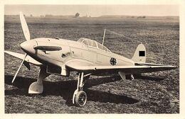 Echt Foto AK 2. WK WW2 1944 Luftwaffe Kampfflugzeug Jagdeinsitzer Heinkel He 112 Feldpost - Guerra 1939-45