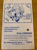 1 BUVARD EMILE CARRARA - Film En Theater