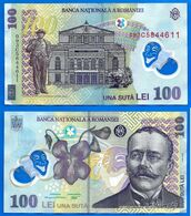 Roumanie 100 Lei 2005 Polymer Que Prix + Port Fleur Paypal Bitcoin OK - Romania