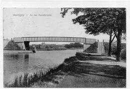 DC3639 - Ansichtskarte / Postkarte Montigny Lès Metz Monteningen Moselle, Panorama Vom Ort M. Kanalbrücke - Lothringen