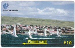 FALKLAND ISLANDS A-181 Magnetic Cable&Wireless - Landscape, Coast - 314CFKD - Used - Islas Malvinas