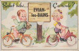 74 EVIAN LES BAINS ( Salut Bebe Ca Roule ) - Móviles (animadas)