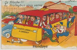 64 HENDAYE ( Ca Filoche !!! Du Trolleybus Vous Verrez ) - Móviles (animadas)