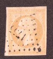 Napoléon III N°13A Citron - Oblitération PC 1755 Longue (Maine Et Loire) - 1853-1860 Napoléon III