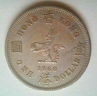 HK $1.00 1960 With Queen Elizabeth Reverse - Hongkong