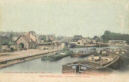 PONT L'ÉVÊQUE - Vue Prise Du Pont Charlet, Péniches. - Arken