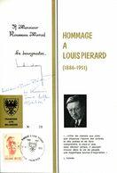 11173107 BE 19731117 Frameries; Louis Piérard, écrivain, Journaliste, Sculpture; Fllet Souvenir Dédicacé Cob1690 - Other