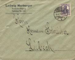 """1919 SONDERBURG ,,Ludwig Marburger"""" Bfh N. Lübeck - Machine Stamps (ATM)"""
