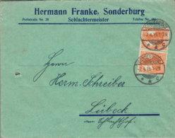 """1919 SONDERBURG ,,Hermann Franke-Schlachtermeister"""" Bfh N. Lübeck - Machine Stamps (ATM)"""