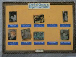 7 PIN'S CHEFS-D'OEUVRE DES IMPRESSIONNISTES. - Badges
