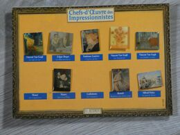8 PIN'S CHEFS-D'OEUVRE DES IMPRESSIONNISTES. - Badges
