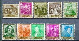 Yv. 1959  N° 927 à 936 Complet  (o)  Vélasquez  Cote  2,5  Euro BE - 1931-Aujourd'hui: II. République - ....Juan Carlos I