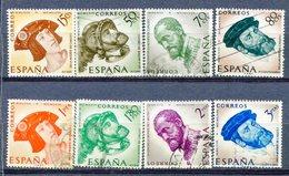 Yv. 1958  N° 913 àn 920   (o)  Charles-Quint  Cote  3,25  Euro BE - 1931-Aujourd'hui: II. République - ....Juan Carlos I