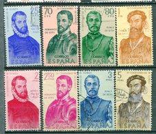 Yv. 1960  N° 979 à 986  (o) Conquérants De L'Amérique Cote  3,7  Euro BE - 1931-Aujourd'hui: II. République - ....Juan Carlos I