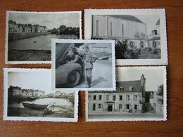 LANDERNEAU BRETAGNE  WW2 GUERRE 39 45 SOUS L OCCUPATION GAYET BOIS HOTEL 3 PILIERS POMPE A ESSENCE - Landerneau