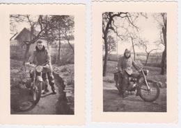 PHOTOGRAPHIE - PHOTO  MOTO MOTOCYCLETTE A DETERMINER DES ANNEES 50 60 - Motorfietsen