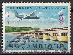 Mozambico 1963 Sc. C33 Posta Aerea Trigo De Morais Bridge Ponte Viaggiato Used Mocambique Mozambique - Bridges