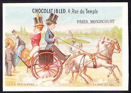 CHROMO Chocolat IBLED Paris - Mondicourt    La Vie Parsienne  Au Tour Du Lac    Lith.  Baster & Vieillemard - Ibled