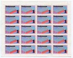 RC 18503 FRANCE FEUILLE DE 20ex VIGNETTE TIMBROSCOPIE NEUF ** TB - Expositions Philatéliques