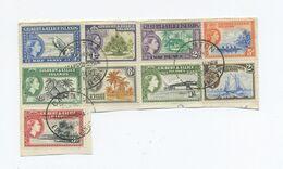 1959 Gilbert & Ellice Islands Nr. 59-67 Auf Briefstück Gestempelt Canton - Sellos