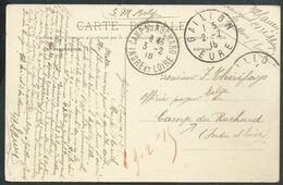 Carte En SM Belge De GAILLON/1915 Pour Arriv Càd CAMP DU RUCHARD - Army: Belgium