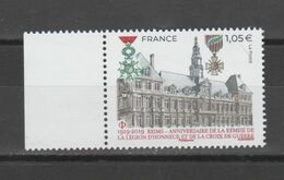 FRANCE / 2019 / Y&T N° 5338 ** : Reims Légion D'Honneur Et Croix De Guerre X 1 BdF G - Nuevos