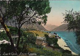 LIMONE SUL GARDA-BRESCIA-LAGO DI GARDA-CAMPING-CARTOLINA VERA FOTOGRAFIA-VIAGGIATA IL 10-8-1954 - Brescia