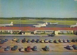 AEROPORTO-AEROPORT-AIRPORT-FLUGHAFEN-HELSINKI HELSINGFORS-FINLAND-CARTOLINA VERA FOTO- VIAGGIATA IL 12-8-1962 - Aerodromes
