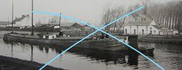 Photo SAINT GHISLAIN Boussu Jemappes Mons Wasmuel Péniche Binnenscheepvaart Canal Kanaal 1933 - Luoghi
