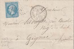 Losange Gros Chiffres  3753 TAD  Type 22 St Martin De Londres Du 20 Novembre 1866 (Gironde° - 1849-1876: Classic Period