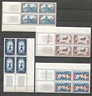 FRANCE ANNEE 1959 N° 1221 à 1224 BLOCS DE 4 EX NEUFS** NMH - Nuovi