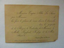 Invitation à La Chasse - Alba La Source - - Announcements