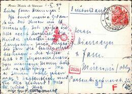 ! 1944, Schweiz, Ansichtskarte Arosa, Hotels, Eisenbahn, Murnau, OKW Zensur, Censure, Censor - Storia Postale