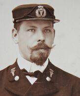 CDV Portrait Marin Officier ? Médecin De Bord ? Antwerpen Marine ? - Foto
