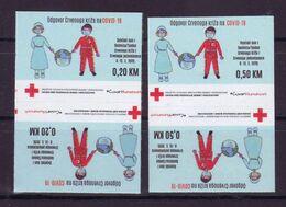 Bosnia BiH 2020 Charity Stamps RED CROSS COVID Tete-beche MNH - Bosnia Erzegovina