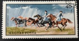 Hongrie 1968 HU 1976 Horses In Storm Chevaux | Parcs Nationaux - Usado